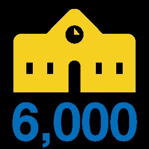 6,000以上の教育機関